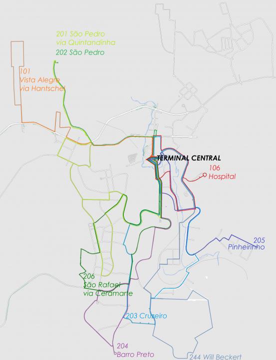 Linhas da Zona da Cidade 2XX