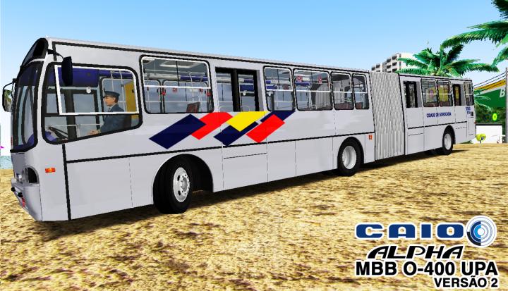 Ronaldo Aguial Design – Caio Alpha MBB O-400 UPA – Versão 2 – OMSI