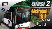 OMSI2 mapa Metropoles Ruhr linha 232 Beliner Platz
