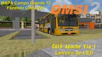 OMSI 2 CAIO Apache Vip I Letreiro de LED