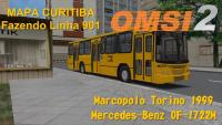 OMSI 2 MAPA Curitiba Fazendo Linha 901 Com Torino 1999 MB 1722