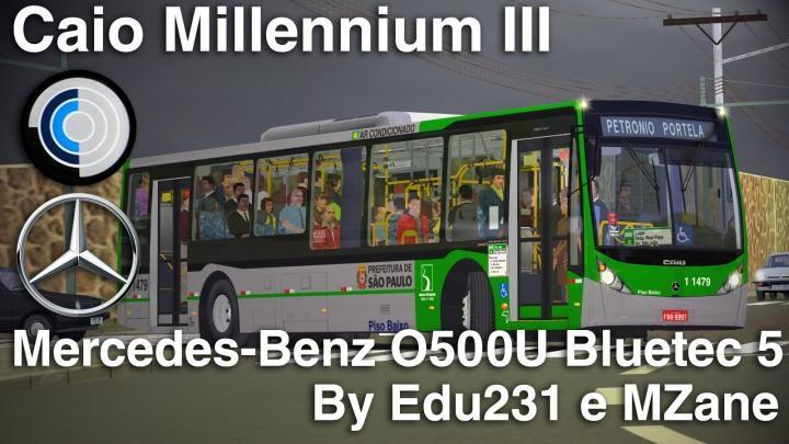 Caio Millennium III Mercedes-Benz O500U Bluetec 5 versão 1.1 – Todas as portas funcionais