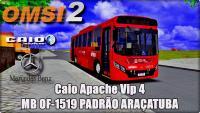 OMSI 2  Lançamento Caio Apache Vip 4 MB OF-1519 PADRÃO ARAÇATUBA