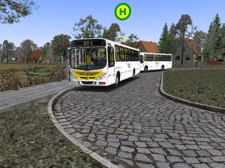 OMSI2 GamePlay Torino 2007 MB1722 Alongado Mapa Fikcyjny Szczecin Linha 488 Pintura Via Sul Natal/RN