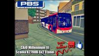 PROTON BUS SIMULATOR CAIO Millennium III Scania K270UB 6×2 Etanol