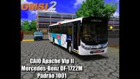OMSI 2 CAIO Apache Vip II Mercedes-Benz OF-1722M padrão 1001