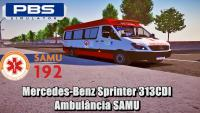 Mercedes-Benz Sprinter 313CDI Ambulância SAMU – Proton Bus Simulator