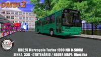 DB025 Marcopolo Torino 1999 MB O-500M LINHA: 338 – CENTENÁRIO / HAUER MAPA: Uberaba OMSI 2