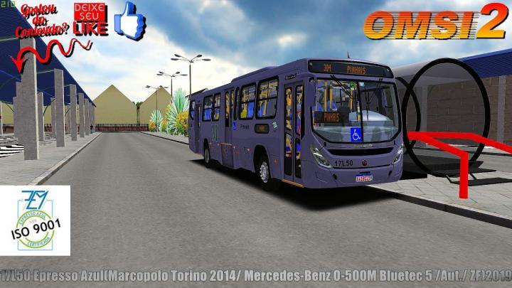 🔴OMSI 2 –17L50 Epresso Azul(Marcopolo Torino 2014/ Mercedes-Benz O-500M Bluetec 5 /Aut./ ZF)2019