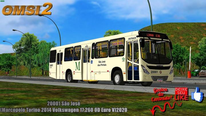 🔴OMSI 2 20001 São José(Marcopolo Torino 2014 Volkswagen 17.260 OD Euro V)2020