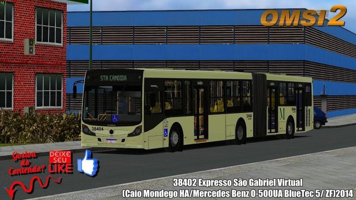 🔴OMSI 2 38402 Expresso São Gabriel Virtual (Caio Mondego HA/Mercedes Benz O-500UA BlueTec 5/ ZF)2014
