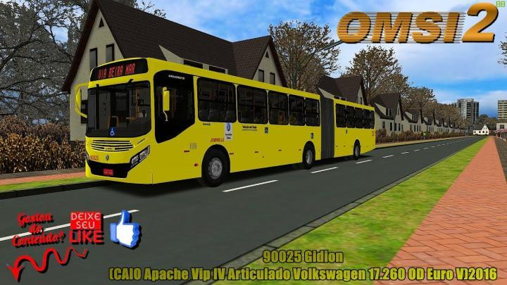 🔴OMSI 2 – 90025 Gidion(CAIO Apache Vip IV Articulado Volkswagen 17.260 OD Euro V)2016