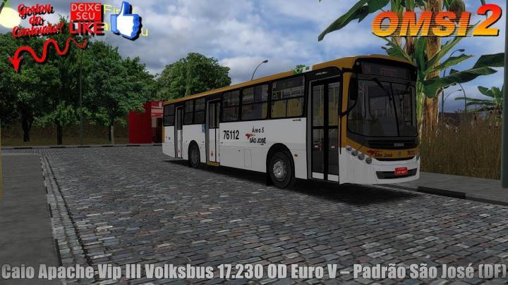 🔴OMSI 2 – Caio Apache Vip III Volksbus 17.230 OD Euro V – Padrão São José (DF)