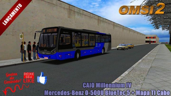 🔴OMSI 2 CAIO Millennium IV Mercedes-Benz O-500U BlueTec 5 + Mapa TI Cabo