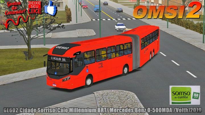 🔴[OMSI 2] GE602 Cidade Sorriso(Caio Millennium BRT/ Mercedes Benz O-500MDA /Voith)2019