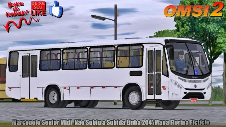 🔴OMSI 2 – Marcopolo Senior Midi Não Subiu a Subida Linha 204\Mapa Floripa Fictício