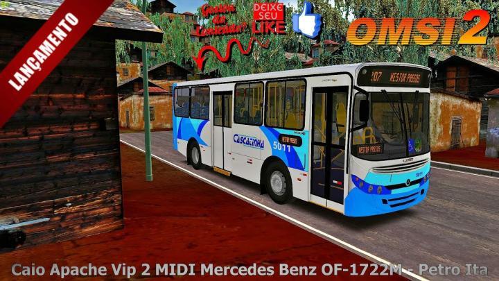 🔴[OMSI 2]Lançamento do Caio Apache Vip 2 MIDI Mercedes Benz OF-1722M – Petro Ita 🔴FELIZ ANO NOVO🔴