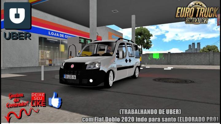 🔴ETS 2 – (TRABALHANDO DE UBER) com Fiat Doblo 2020 indo para santo (ELDORADO PRO) #2