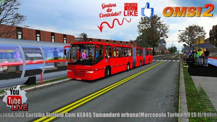 LIVESTREAM: LINHA:503 Curitiba Ficticio Com KE845 Tamandaré urbana(Marcopolo Torino 99 LS II/Volvo