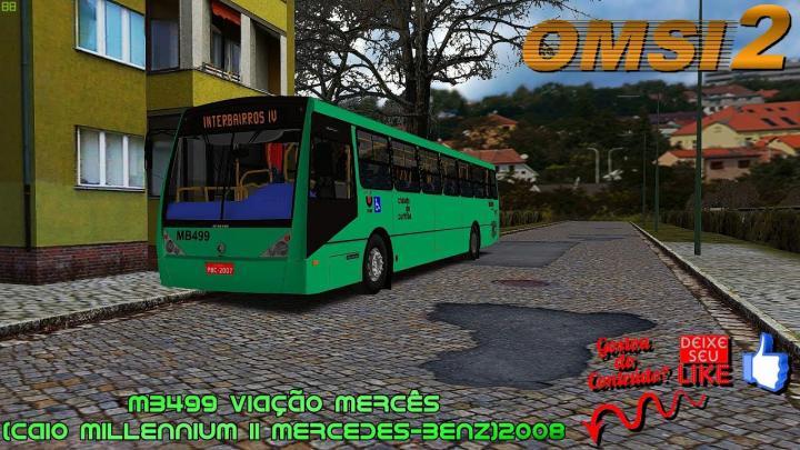 🔴OMSI 2 MB499 Viação Mercês (CAIO Millennium II Mercedes-Benz)2008