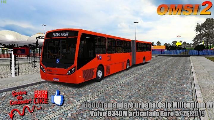 🔴ONSI 2 – KI600 Tamandaré urbana(Caio Millennium IV /Volvo B340M articulado Euro 5/ ZF)2019