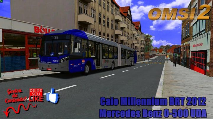 🔴OMSI 2 – Caio Millennium BRT 2012 Mercedes Benz O-500 UDA