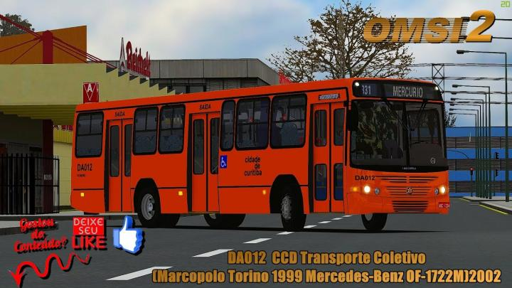 🔴OMSI 2 – DA012  CCD Transporte Coletivo(Marcopolo Torino 1999 Mercedes-Benz OF-1722M)2002