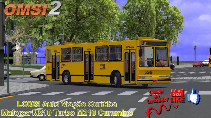 🔴OMSI 2 – LC029 Auto Viação Curitiba Mafersa M210 Turbo M210 Cummins/1993