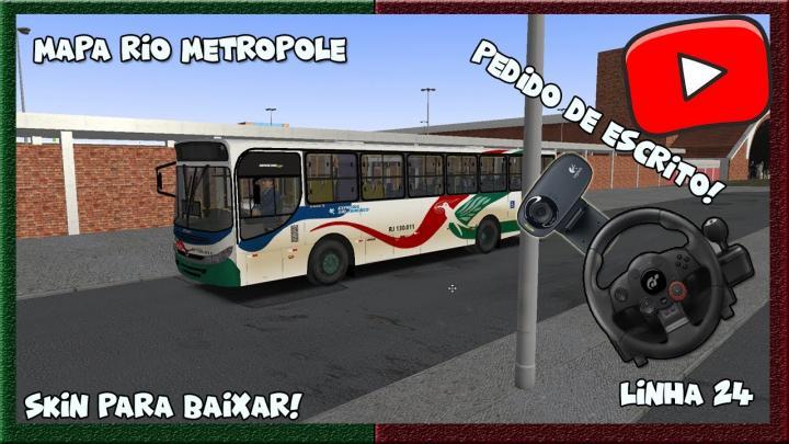 [OMSI 2] – MAPA Rio Metropole- LINHA 24 – SKIN PARA BAIXAR!! Apache II