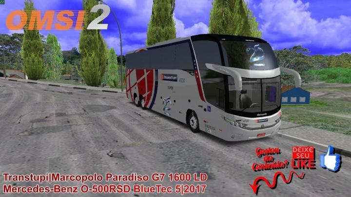 🔴OMSI 2 – Transtupi|Marcopolo Paradiso G7 1600 LD Mercedes-Benz O-500RSD BlueTec 5|2017