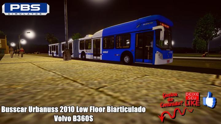 🔴Proton Bus Simulator – Busscar Urbanuss 2010 Low Floor Biarticulado Volvo B360S