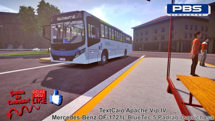 🔴Proton Bus Simulator – Caio Apache Vip IV Mercedes-Benz OF-1721L BlueTec 5 Padrão Caprichosa