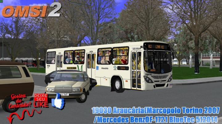 🔴OMSI 2 – 19030 Araucária(Marcopolo Torino 2007 /Mercedes BenzOF-1721 BlueTec 5)2014
