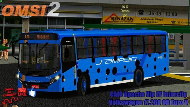 🔴OMSI 2 – CAIO Apache Vip IV Intercity Volkswagen 17.260 OD Euro V
