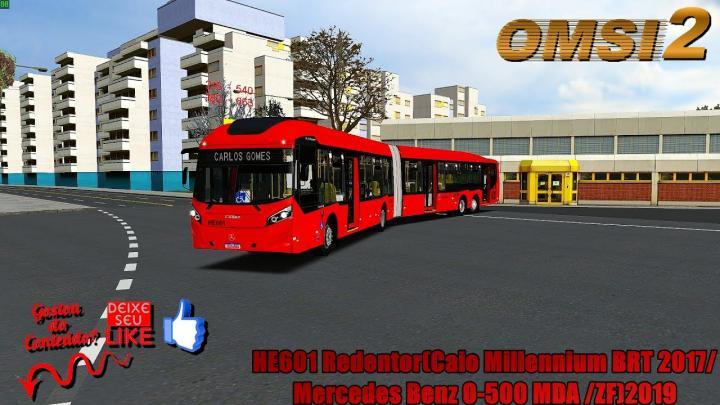 🔴OMSI 2 – HE601 Redentor(Caio Millennium BRT 2017/ Mercedes Benz O-500 UDA /ZF)2019