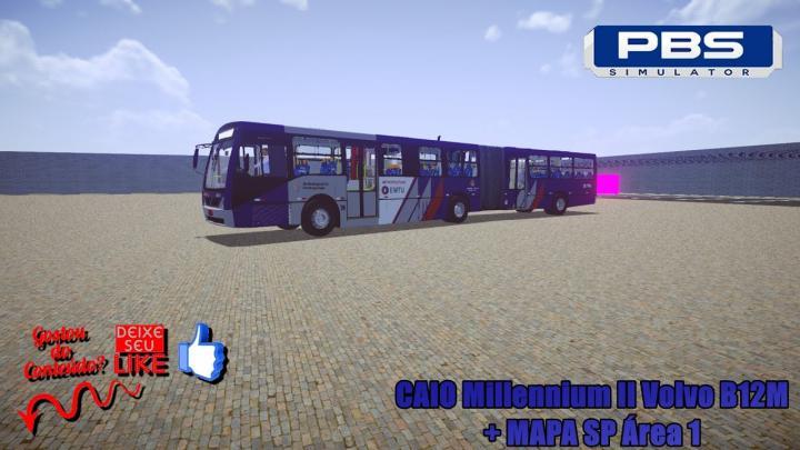 🔴Proton Bus Simulator – CAIO Millennium II Volvo B12M + MAPA SP Área 1
