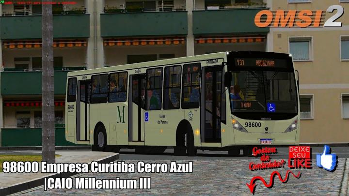 🔴98600 Empresa Curitiba Cerro Azul|CAIO Millennium III|OMSI 2