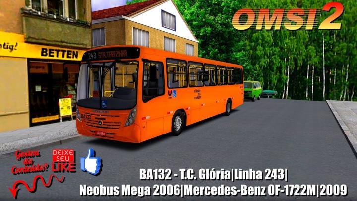 BA132 – T.C. Glória|Linha 243|Neobus Mega 2006|Mercedes-Benz OF-1722M|2009|OMSI 2