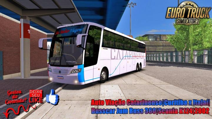 🔴ETS 2 – Auto Viação Catarinense|Curitiba x Itajaí|Busscar Jum Buss 360|Scania K124|2002