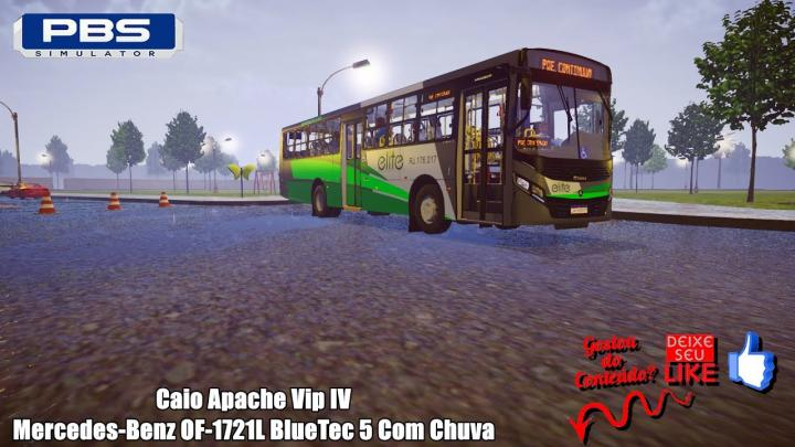 🔴Proton Bus Simulator – Caio Apache Vip IV Mercedes-Benz OF-1721L BlueTec 5 Com Chuva