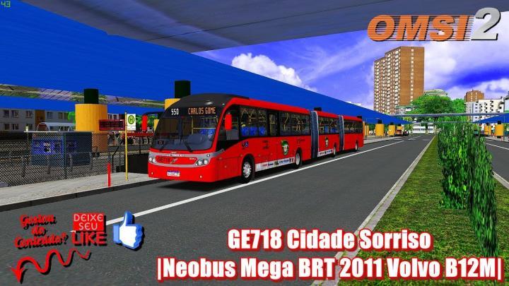 GE718 Cidade Sorriso|Neobus Mega BRT 2011 Volvo B12M|2011