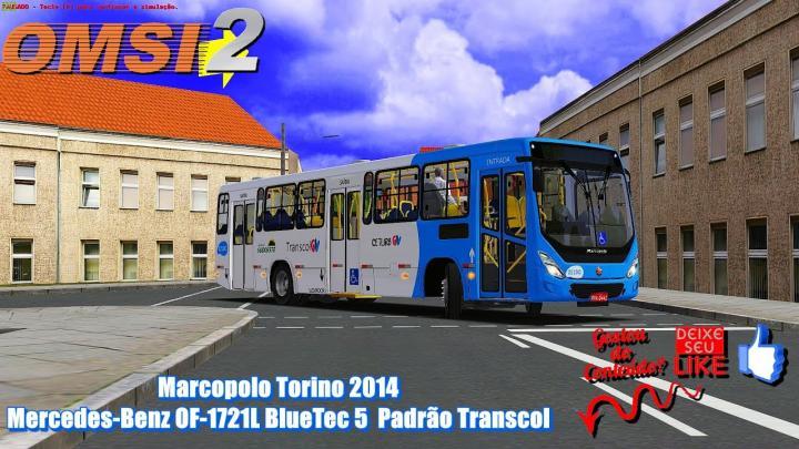 🔴LANÇAMENTO Marcopolo Torino 2014 Mercedes-Benz OF-1721L BlueTec 5 Padrão Transcol – OMSI 2