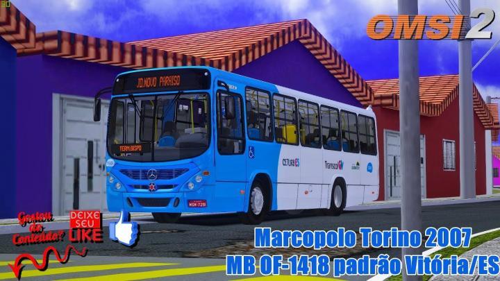 🔴Marcopolo Torino 2007 MB OF-1418 padrão Vitória/ES – OMSI 2