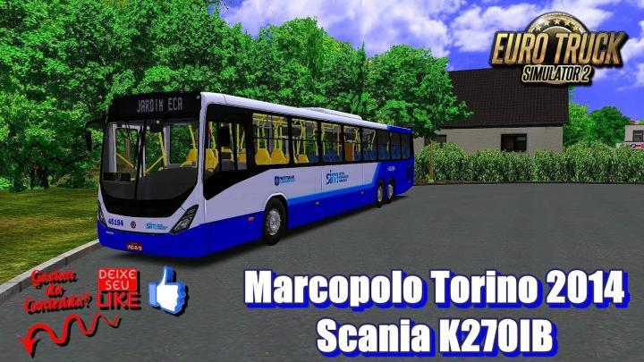 🔴Marcopolo Torino 2014 Scania K270IB – OMSI 2