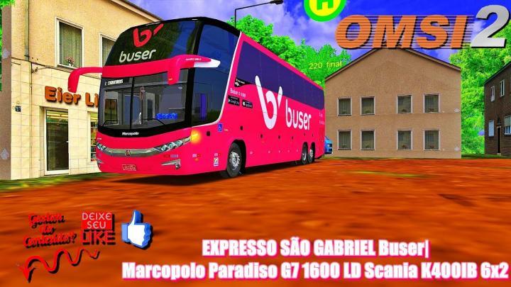 🔴EXPRESSO SÃO GABRIEL Buser|Marcopolo Paradiso G7 1600 LD Scania K400IB 6×2 – OMSI 2