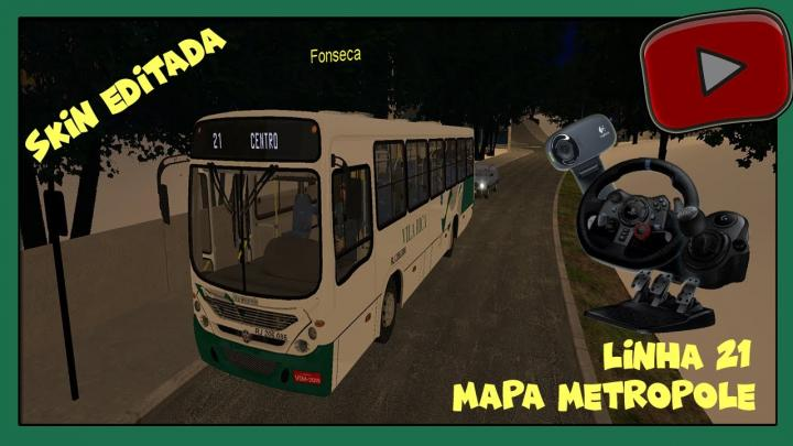 [OMSI 2] – MAPA Rio Metropole – LINHA 21 – SKIN EDITADA VILA RICA  # PEDIDO DE NATANAEL G29
