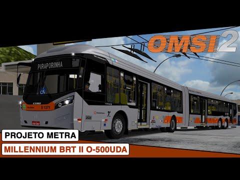 OMSI 2 || Caio Millennium BRT II Mercedes-Benz O-500UDA || Projeto Metra Linha 288P
