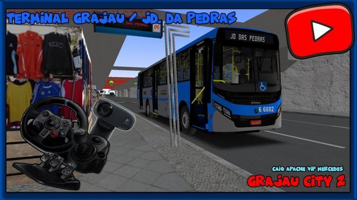 [OMSI 2] – MAPA GRAJAU CITY 2 – LINHA 6092 TERM.GRAJAU / JARDIM DAS PEDRAS – SG29