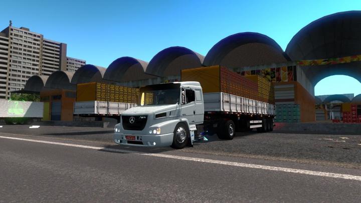 Vida de Caminhoneiro Mercedes Atron Levando Frutas para Queimados RJ (Euro Truck Simulator 2)#9