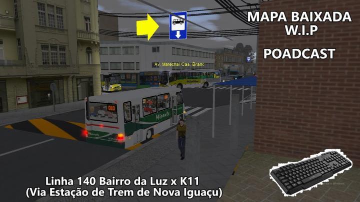 OMSI 2 Linha 140 K11 x Bairro da Luz -Senior Midi Mobilidade Nova Iguaçu [Mapa Baixada W.I.P]